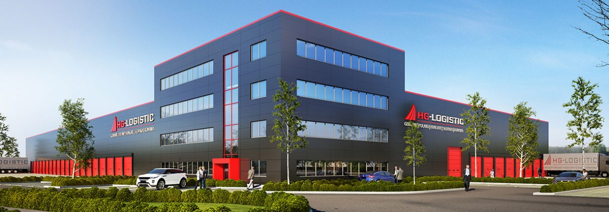 Rendering des neuen Firmengebäudes